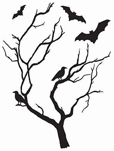Wall Pops DWPK2249 Spooky Tree Large Wall Art Kit, Black