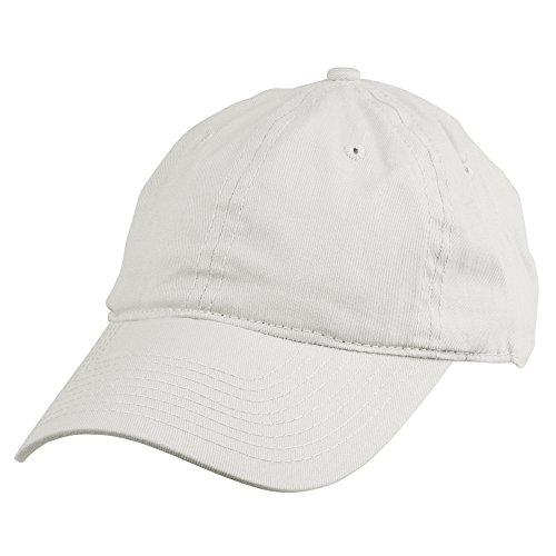 DALIX Womens Lightweight 100% Cotton Cap in  White (Velcro Closure)