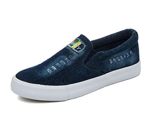 Zapatos Colores Dos XIE Simple 37 Permeabilidad Estudiantes 38 DEEPBLUE Color Sólido Escuela Señora Deep Blue Ocio Denim 5gqqvPS