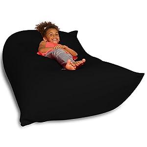 Big Squishy Portable and Stylish Bean Bag Chair, Medium, Black