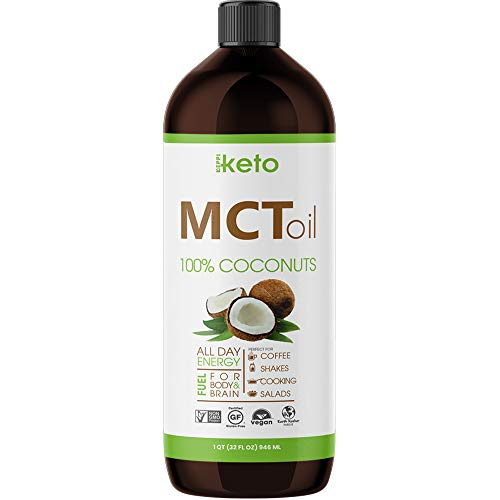 Keppi Keto MCT Oil Non GMO: 32 oz Dietary Supplement Made from 100% Coconuts Real Coconut Oil Supports Weight Maintenance with Increased Metabolism 30 Day 100% Money Back Guarentee