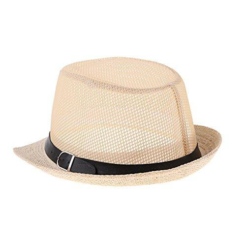 Baosity 麦わら帽子 サンハット リボン ビーチキャップ 男女用 ワイド縁 日焼け止め 通気 全2サイズ