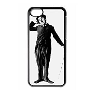 Charles Chaplin iPhone 5c Cell Phone Case Black Customized Toy pxf005_9699840