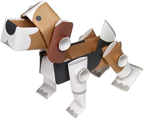 パイプロイド(PIPEROID) アニマルズ 犬 シリーズ ビーグル - 小学生 から 大人まで 楽しめる 紙工作 クラフトキット - 折り紙 好きの 男の子や 女の子にも [並行輸入品]