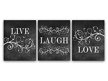 Amazon.com: Live Laugh Love Art, Bedroom Wall Decor, Chalkboard ...