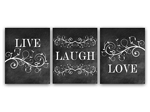Live Laugh Love Art, Bedroom Wall Decor, Chalkboard Art Prints or Canvas - HOME23