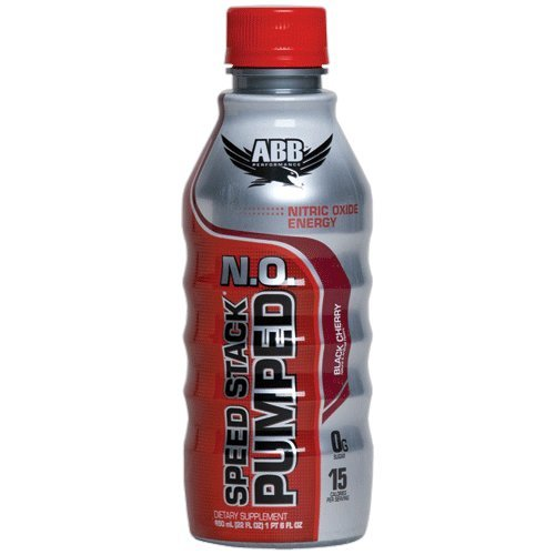 American Body Building Speed Stacked Pumped N.O. 22 Ounce, Black Cherry, 20 Count