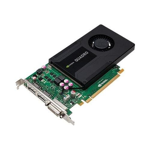 PNY VCQK2000-PB NVIDIA Quadro K2000 2GB GDDR5 PCI Express 2.0 x16 DisplayPort DVI Workstation Video Card ()
