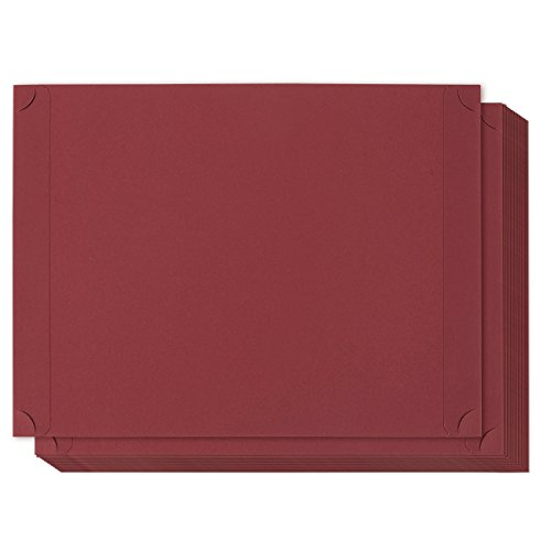 24-Pack Certificate Holder - Diploma Holder, Single Sided Holder for Letter-Sized Award Certificates and Documents Display, Red, 11.2 x 8.8 inches ()