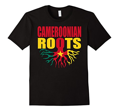 Men's Teecastle Cameroonian Roots Cameroon Flag Pride Gift T-Shirt 2XL Black