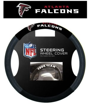 Fremont Die NFL Atlanta Falcons Poly-Suede Steering Wheel Cover