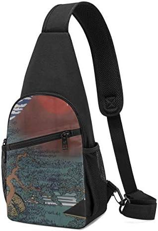 ボディ肩掛け 斜め掛け 招き猫富士山で馬に乗って ショルダーバッグ ワンショルダーバッグ メンズ 軽量 大容量 多機能レジャーバックパック