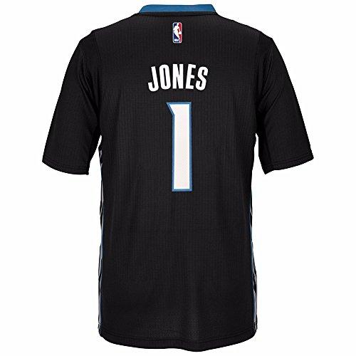 adidas Tyus Jones Minnesota Timberwolves NBA Black Official Climacool Pride Swingman Jersey for Men (L)