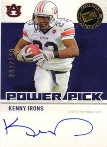 2007 Press Pass RC AUTOgraph Power Picks Kenny Irons RC Ro NFL Footballl Trading Card