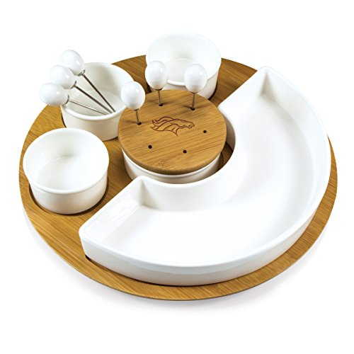 NFL Denver Broncos Homegating Symphony Appetizer Serving Set]()