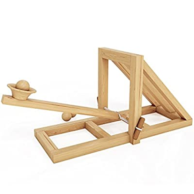 MOTA Catapult - Educational Desktop Battle Kit - Easy to Build Wooden Toy Kit for all Ages