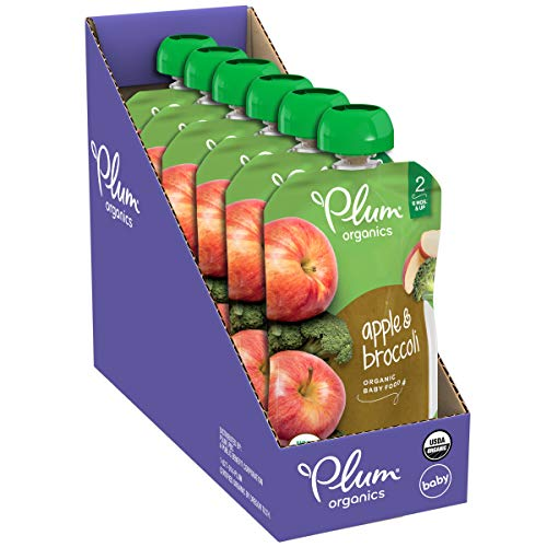 41XAzmPNkIL - Plum Organics Stage 2, Organic Baby Food, Fruit And Veggie Variety Pack, 4 Ounce Pouches (Pack Of 18)