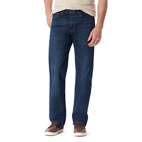 Wrangler Authentics Men's Big & Tall Classic Relaxed Fit Flex Jean, Dark, 44x29