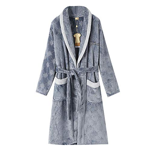 Flannel Fleece Service Grey Home Men's Pajamas Nightgown Warm Thick Bathrobes Solid Winter Coral And Autumn OTRqvv