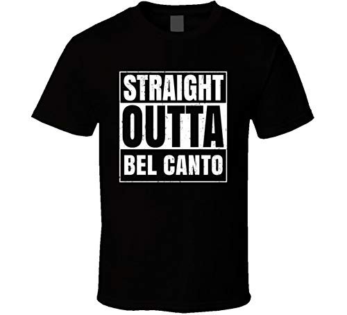 Straight Outta Bel Canto Restaurant Fast Food Chain Eatery Compton Parody T Shirt S Black -
