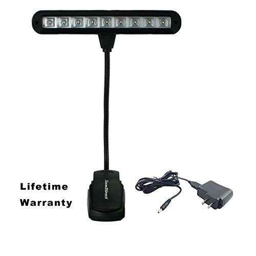 SumDirect Clip-on Rechargeable LED Music Stand Light with Ad