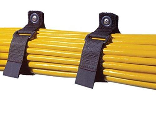 Bk Rip Tie (Rip-Tie 1 x 10 Cinch Strap EG Black 10 pcs. N-10-G10-BK)