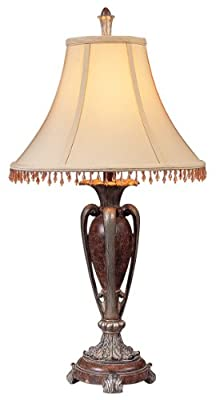 OK LIGHTING OK-4162T 29-Inch H Antique Copper Table Lamp