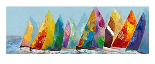 n Sail Away Wood Stretched Canvas Oil Painting Wall Decor (Away Canvas)