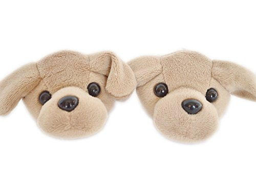 BROWN LABRADOR SLIPPERS FOR AMERICAN GIRL DOLLS AND BITTY TW
