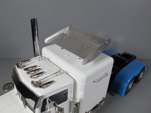 Aluminum 13.1cm Roof Spoiler Wing for Tamiya R/C 1/14 King Grand Hauler Truck ()