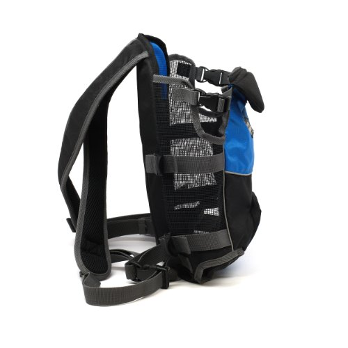 Kyjen 2507 Legs Out Front Carrier Dog Easy-Fit Adjustable Carrier Pack For Dogs, Medium, Blue