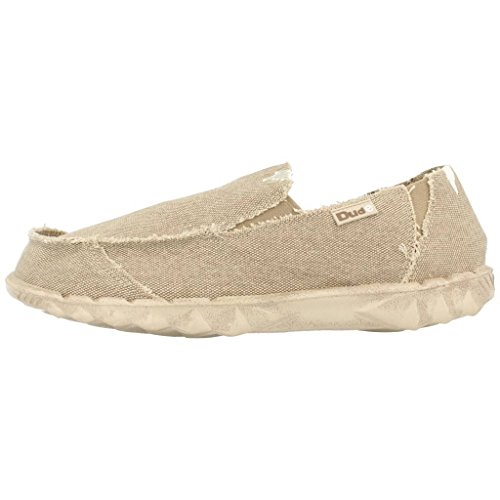 Dude Shoes Womens Farty Youth Classic Desert Slip On / Mule Beige