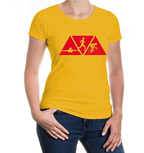 buXsbaum Girlie T-Shirt Swimming Cycling Running-XXL-Sunflower-Red (Schwimmen-trikots)