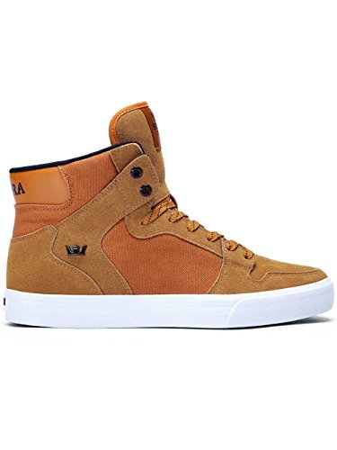 Supra Vaider Shoes (Cathay Spice/White) Mens High-Top Vulcanized Canvas Sneakers