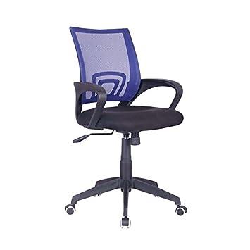AMUEBLALO - Silla Oficina, Escritorio, despacho, elevable con balanceo, apoyabrazos - Berlín - Azul, Única: Amazon.es: Hogar