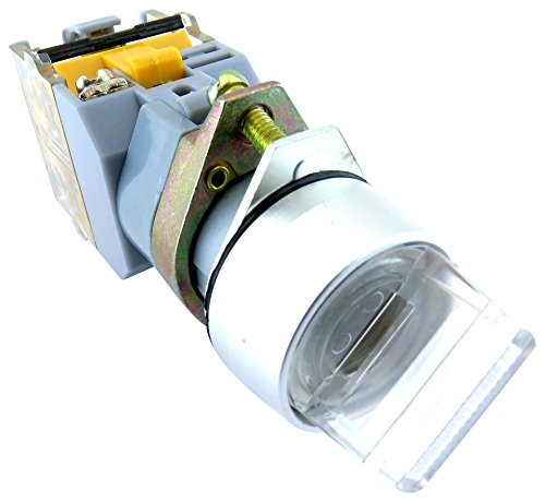 YuCo YC-SS22XPMA-I3W-1 Illuminated Selector Switch, White
