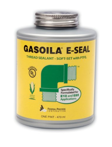 Gasoila E-Seal Pipe Thread Sealant with PTFE Paste, Non Toxic, -100 to 600 Degree F, 1 Pint Brush