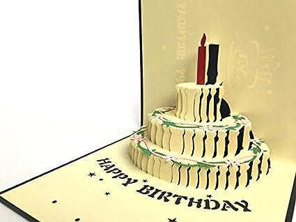 Tarjeta de felicitación de cumpleaños 1 vela primer doble ...