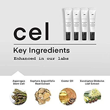 Cel MD Microstem Hair Stimulation Formula Hair Growth Serum for Rapid Thicker Fuller Hair Regrowth Stem Cell Technology – Asparagus, Biotin, Keratin and Castor Oil Packs