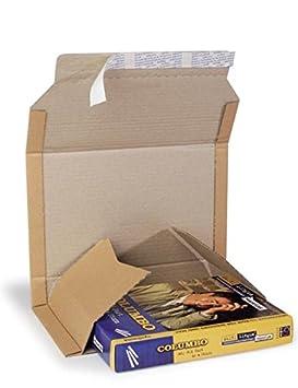 Caja de cartón plegable (cartón ondulado, 1 ondulación, marrón, 270 x