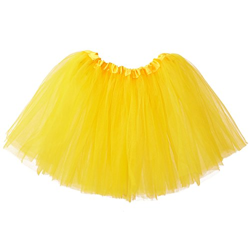My Lello Big Girls Tutu 3-Layer Ballerina (4T-10yr) Yellow -