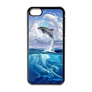 Dolphin Shell Phone for iphone5c Black Cover Phone Case