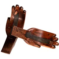 Beatnik Trading Hand Carved Hands Large Surfboard Wall Rack - Includes Mounting Hardware