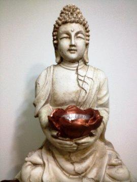 Garden Buddha With Solar Light