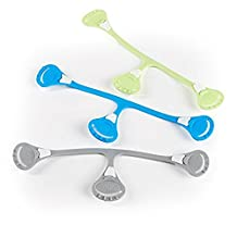 Snappi Cloth Diaper Fasteners - Pack of 3 (Blue, Green, Gray)