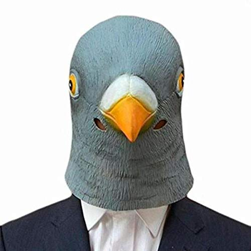 Halloween Mask 2017 Hot Creepy Pigeon Head Mask 3D Latex Prop Animal Cosplay Costume Party Halloween Free shipping -