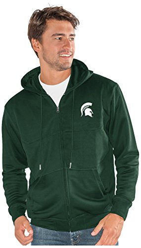 (G-III Sports NCAA Michigan State Spartans Men's Cadence Full Zip Hoody, 3X-Large, Green)