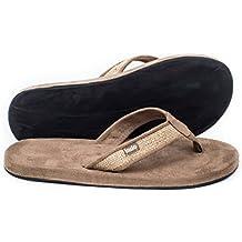 Indosole Socially Conscious Men's Tan Burlap Sandals