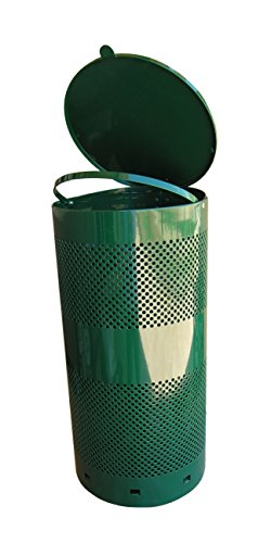 Pet Waste Can Green Outdoor Pet Waste Receptacle 10 Gallon Can ( PWC-025 ) by PetWasteCo