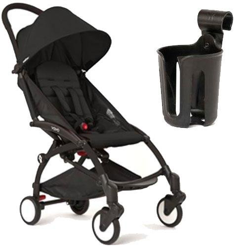 Babyzen YoYo+ Stroller Bundle (Yoyo+ Stroller Frame in White, 6+ Color Pack & Cup Holder) (Black/Black) Review